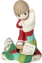 Precious Moments 191029 Boy on Step Stool with Stocking Figurine
