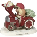 Precious Moments 191034 Dad and Son on Tractor with Tree Figurine