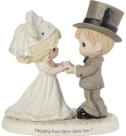 Precious Moments 191061 Disney Wedding Couple Figurine