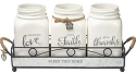 Precious Moments 191416 Inspirational Mason Jar with Holder Set of 4