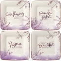Precious Moments 191441 Inspirational Dessert Plate Set of 4