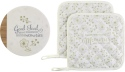 Precious Moments 191460 Trivet and Potholders Gift Set Set of 3