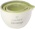 Precious Moments 191471 Measuring Cups Set of 4