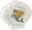 Precious Moments 191480 Mermaid Shell Bank