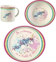Precious Moments 191485 Unicorn Mealtime Set Set of 3