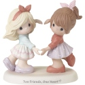 Precious Moments 192001 Two Girls Making Heart with Hands Figurine