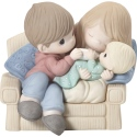 Precious Moments 192019 Couple on Couch with New Baby Figurine