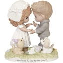 Precious Moments 192021 Barefoot Couple with Puppies Wedding Figurine
