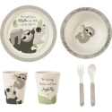 Precious Moments 192437 Mealtime Bear Sloth Gift Set Set of 5