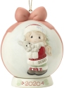 Precious Moments 201003 Dated 2020 Girl Ball Ornament