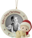 Precious Moments 201010 Baby's First Christmas Photo Frame Ornament