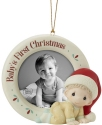 Precious Moments 201010A Baby's First Christmas Photo Frame Ornament