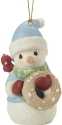 Precious Moments 201018 Annual Snowman With Owl Ornament