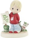 Precious Moments 201027 Boy With Letter To Santa Figurine