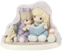 Precious Moments 201029 Kid's Reading Under Blanket Figurine