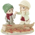 Precious Moments 201030 Couple Walking In Fall Figurine