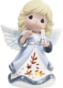 Precious Moments 201401 Angel Holding Candle LED Musical
