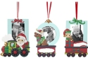 Precious Moments 201413 Set/3 My First Christmas Baby Holiday Milestone Train Photo Frame