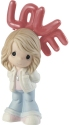 Precious Moments 202001 Girl Holding Red LOVE Balloons Figurine