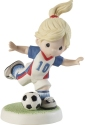 Precious Moments 202012D Brunette Girl Playing Soccer Figurine