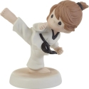 Precious Moments 202013D Blonde Girl Doing Martial Arts Figurine
