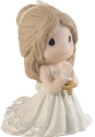 Precious Moments 202017D Brunette Girl Kneeling For First Communion Figurine