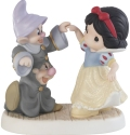 Precious Moments 202034 Disney Snow White Dancing With Dopey And Sneezy Figurine