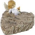 Precious Moments 202425 Angel On Garden Stone With Paw Prints