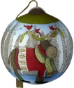 Precious Moments 7201113D Cardinals On Moose Antlers Ornament