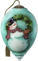 Precious Moments 7201117D Snowman With Wreath Ornament