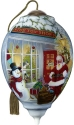 Precious Moments 7201123D Santa Outside Toy Show Ornament