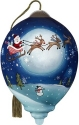 Precious Moments 7201128 Santa And Sleigh Flying Across Moon Ornament