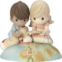 Precious Moments CC199003 2019 Collector's Club MOF Boy and Girl Fixing World Figurine