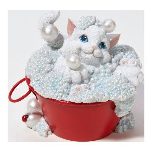 Charming Purrsonalities 4022696 Cat in Bubble Bath Figurine