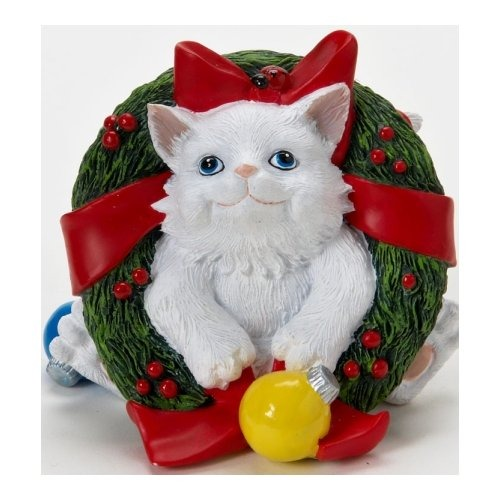 Special Sale 4022707 Charming Purrsonalities 4022707 Cat with Christmas Wreath