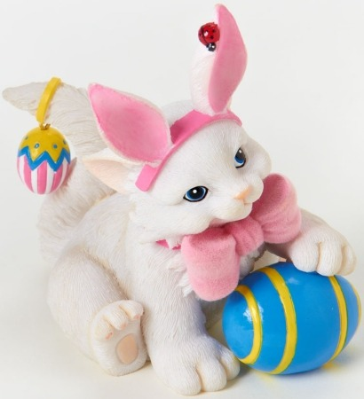 Charming Purrsonalities 4025970 Cat Dressed as Rabbit Figurine
