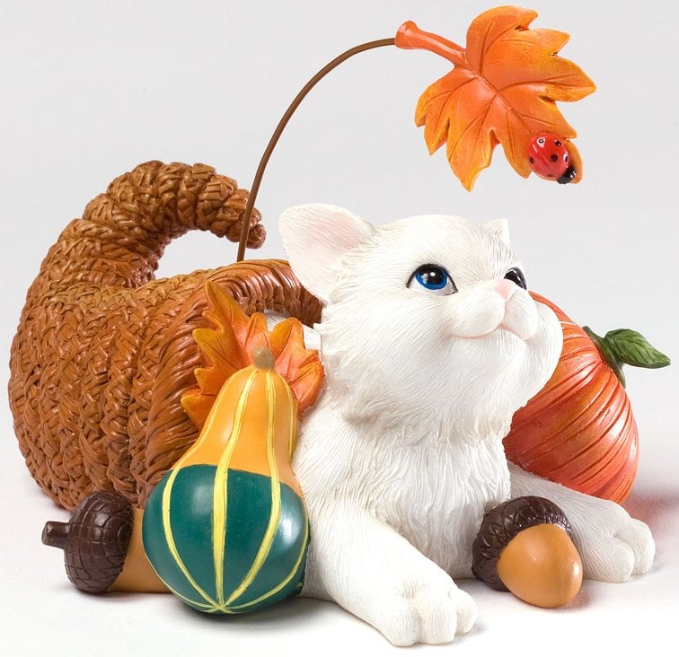 Charming Purrsonalities 4027983 I'm Pretty Thankful for You Figurine