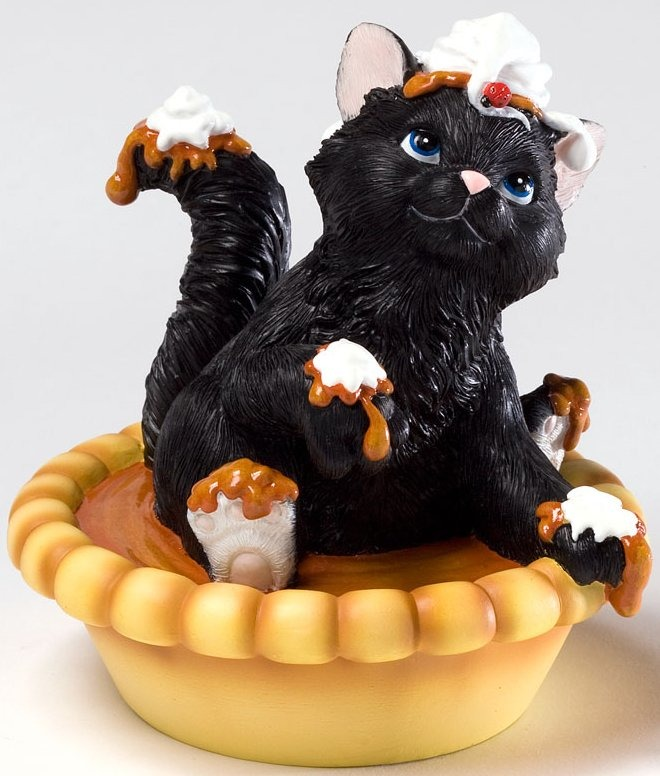 Charming Purrsonalities 4027984 Hi Pumpkin Puss Figurine