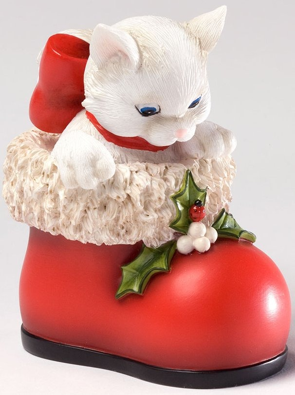 Charming Purrsonalities 4027986 Are You Santa Cat Figurine