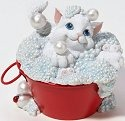 Charming Purrsonalities 4022696 Cat in Bubble Bath Figurine