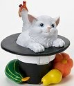 Charming Purrsonalities 4022705 Cat Inside Hat Figurine
