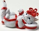 Charming Purrsonalities 4022708 Cat Wrapped in Ribbon Figurine