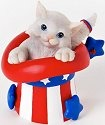Charming Purrsonalities 4025971 Purr- fectly Patriotic Figurine