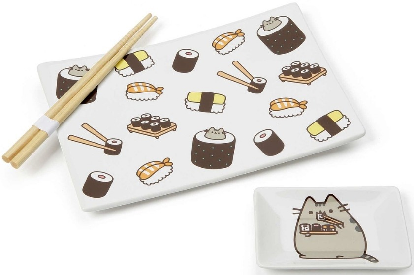 Pusheen by Our Name Is Mud 6001941 Set Sushi Plate Soy Dish