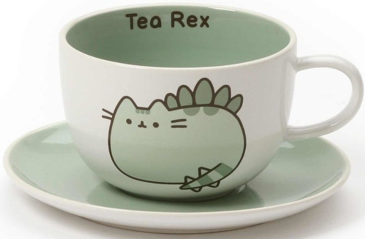 Pusheen by Our Name Is Mud 6001943 Teacup And Saucer Set