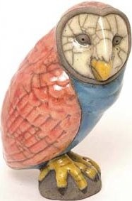 Raku South Africa O12 Owl Golden Small