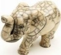 Raku South Africa E22W Elephant Walking Large White
