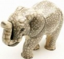 Raku South Africa E23W Elephant Walking Extra Large White