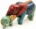Raku South Africa E31 Elephant & Calf Baby