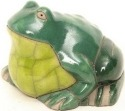 Raku South Africa F31 Frog Small Green